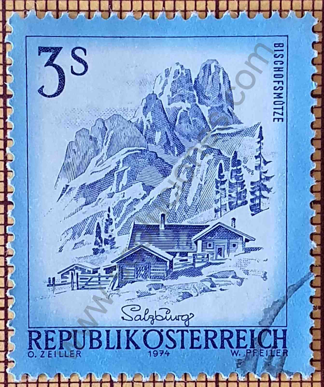 Pico Bischofsmütze - sello Austria 1974