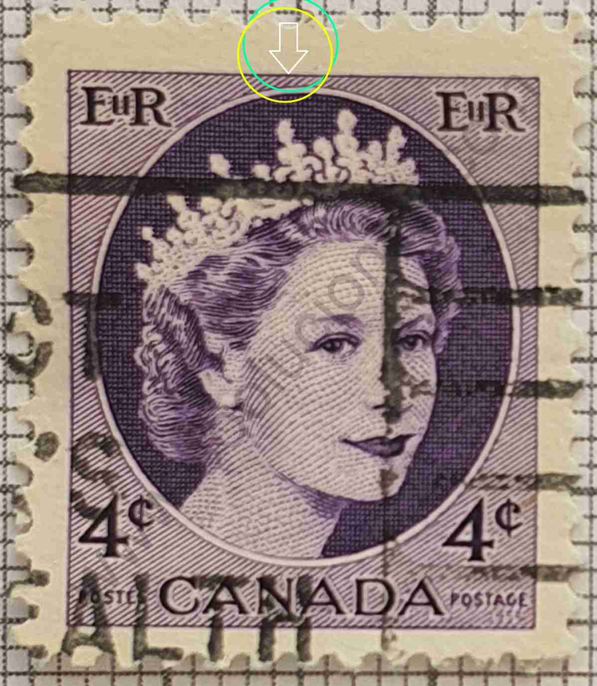 Sello Elizabeth II 4¢ - 1962 Canadá