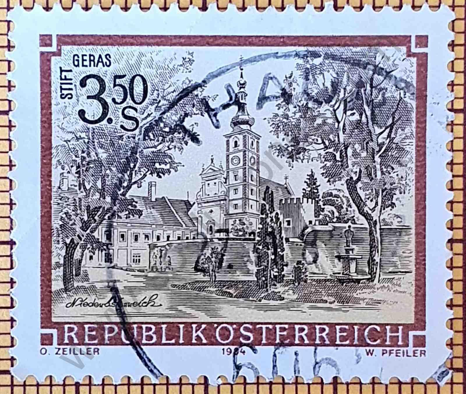 Monasterio de Geras - Sello de Austria año 1984