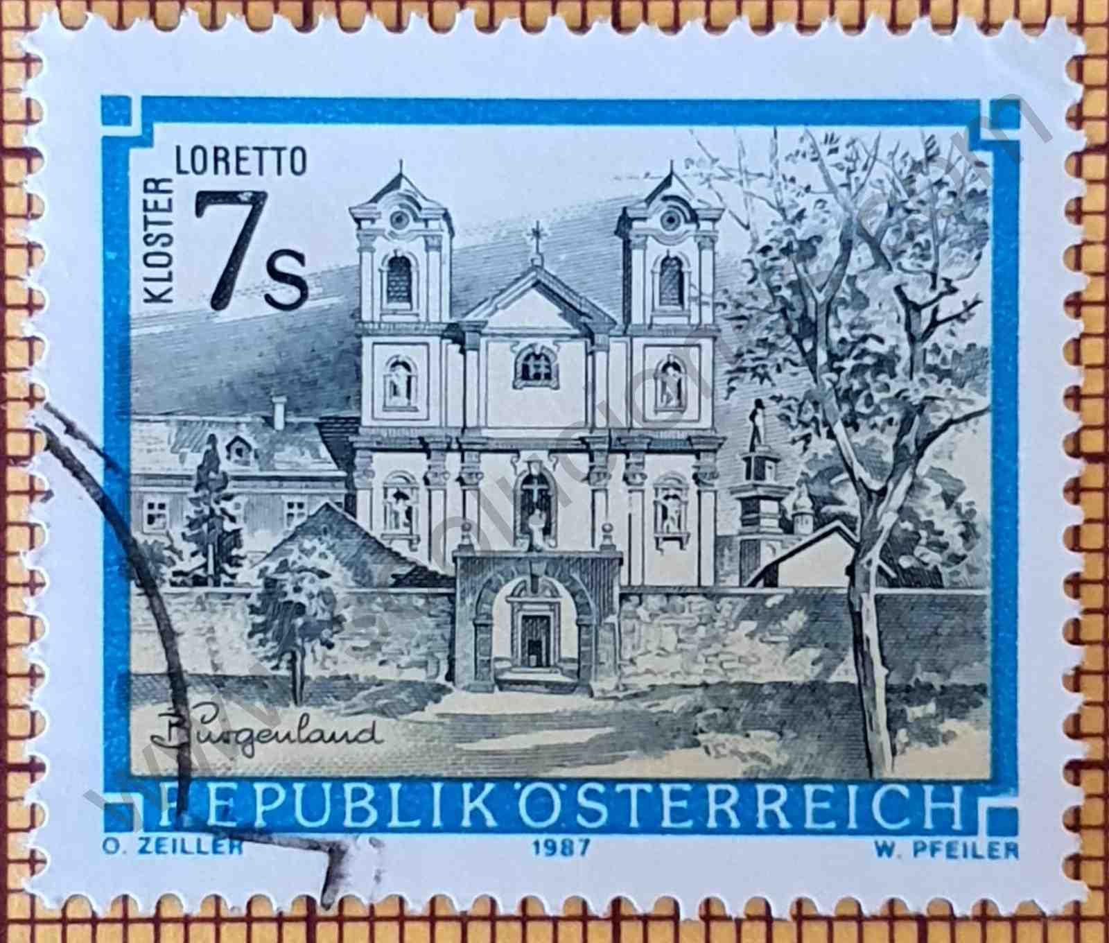 Monasterio Loretto - Sello Austria año 1987