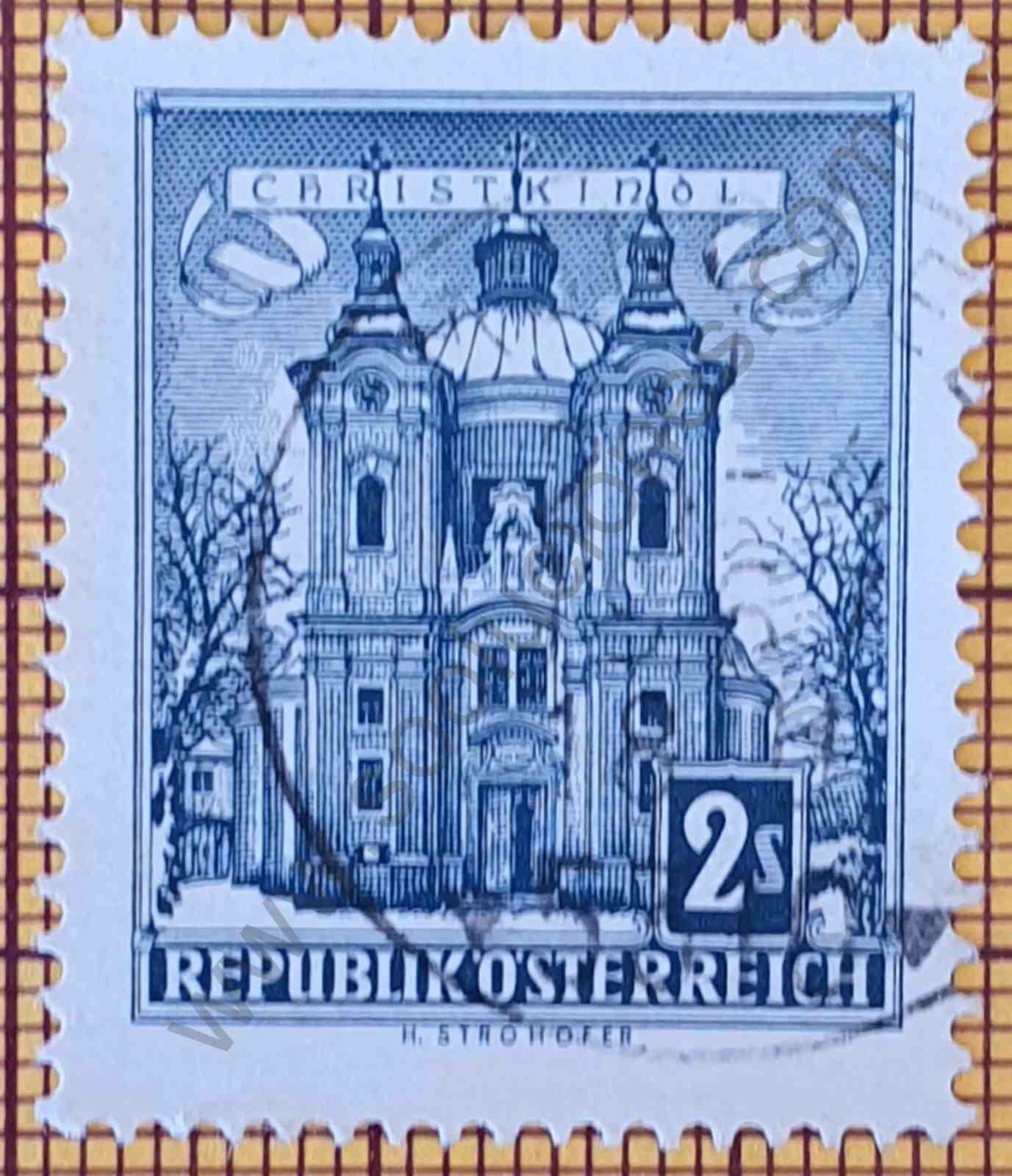 Iglesia de la Gracia - Sello de Austria año 1958