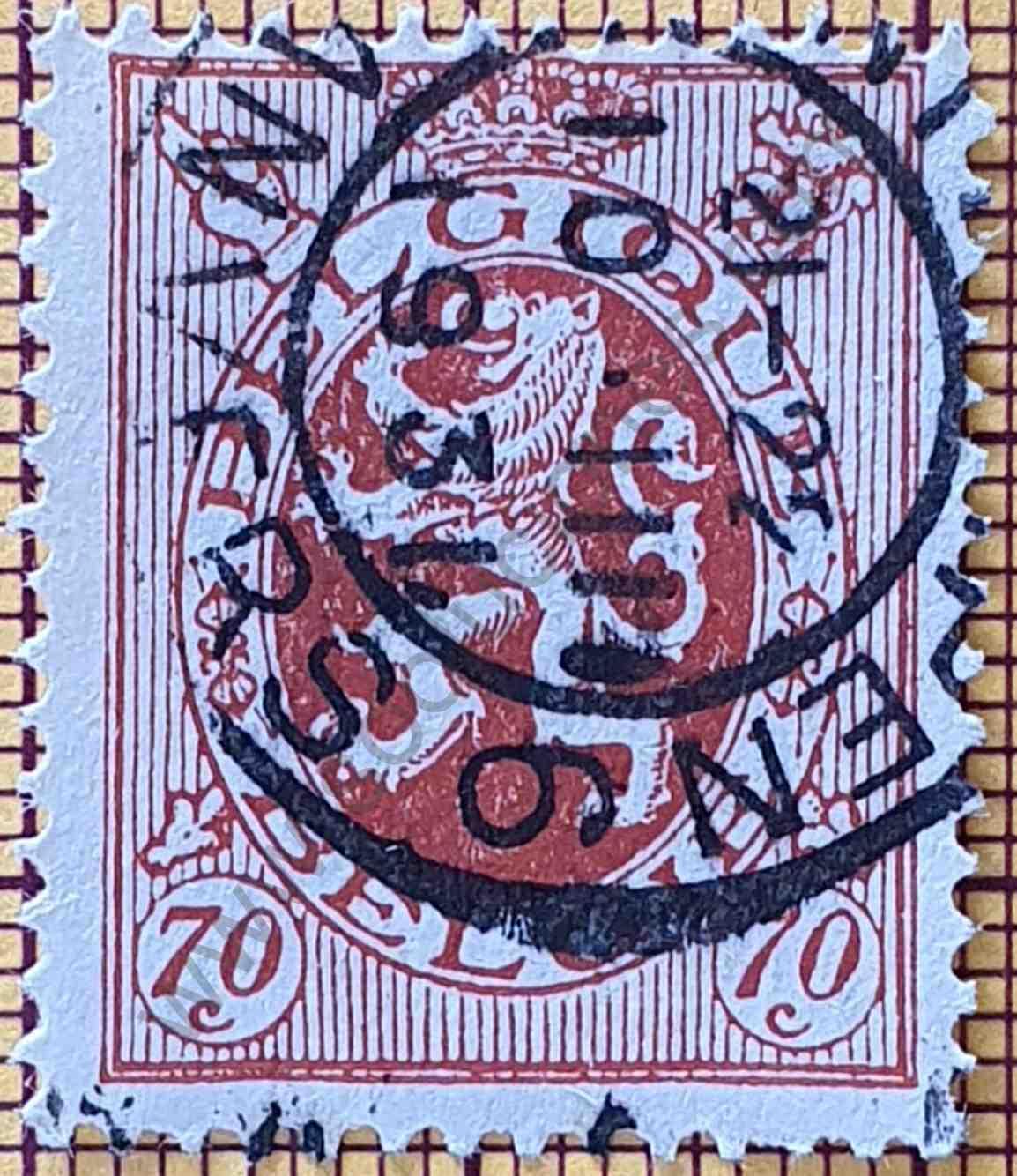 León Heráldico 70c 1930 - sello de Bélgica