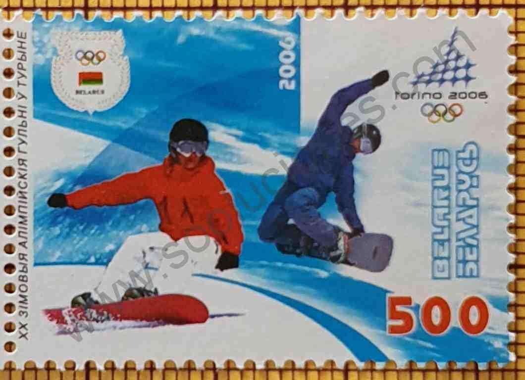 Snowboard en Juegos Olímpicos - Sello de Bielorrusia año 2006