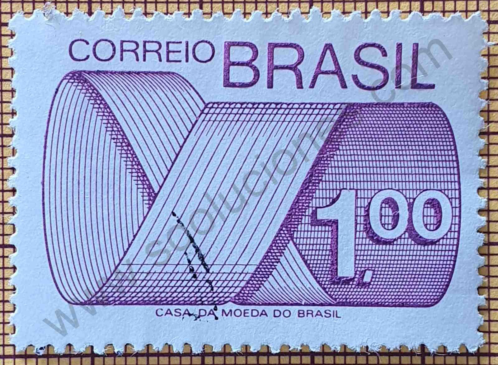 Sello Brasil 1974 Marca postal y emblema