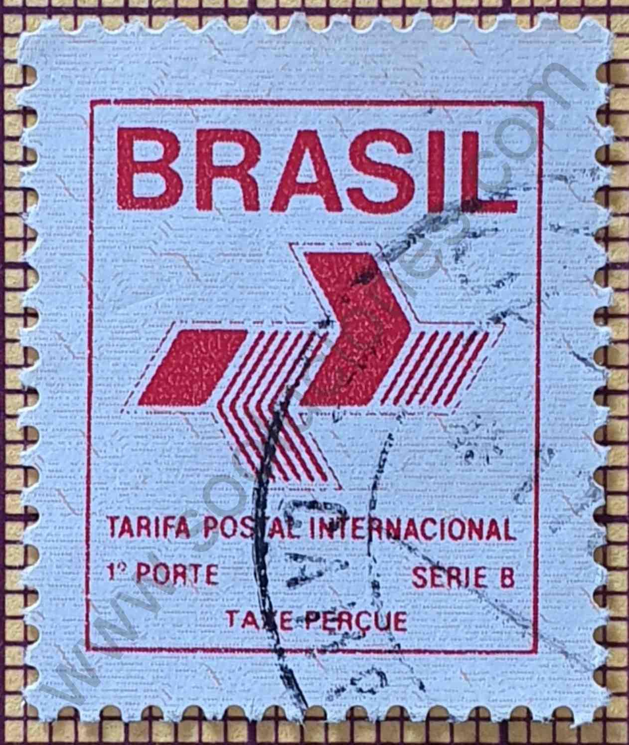 Emblema postal - Sello de Brasil año 1989