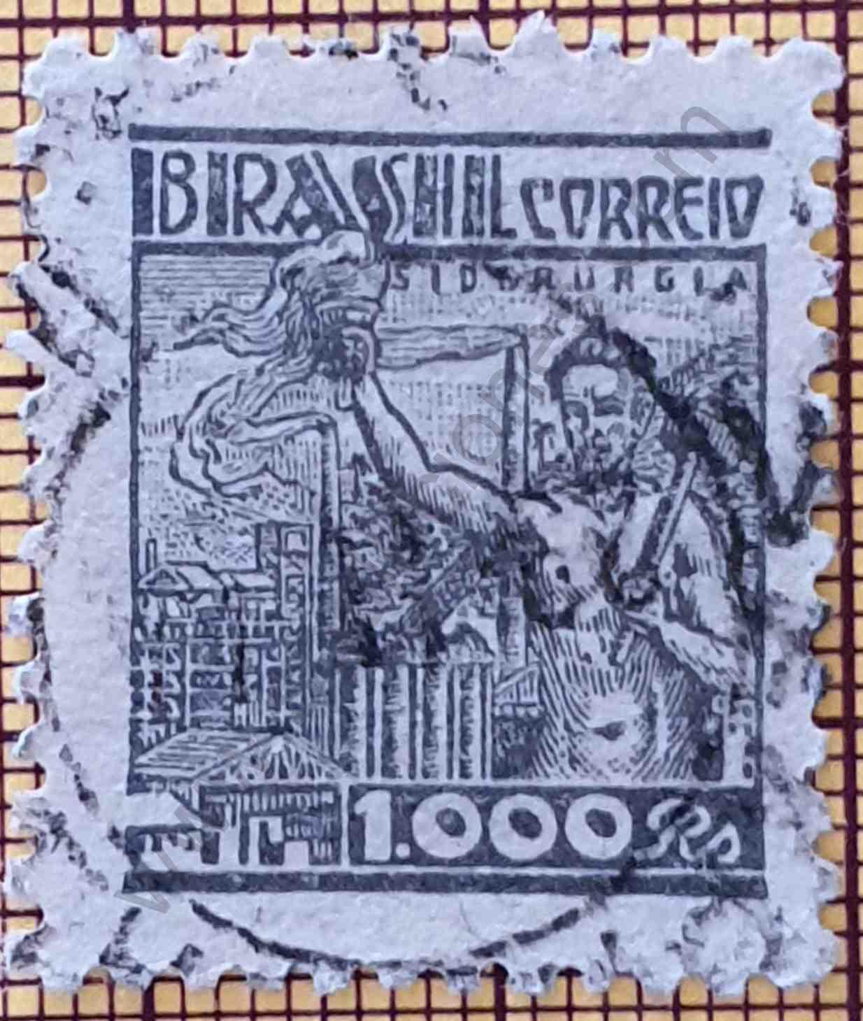 Sello Industria Siderúrgica Brasil 1941