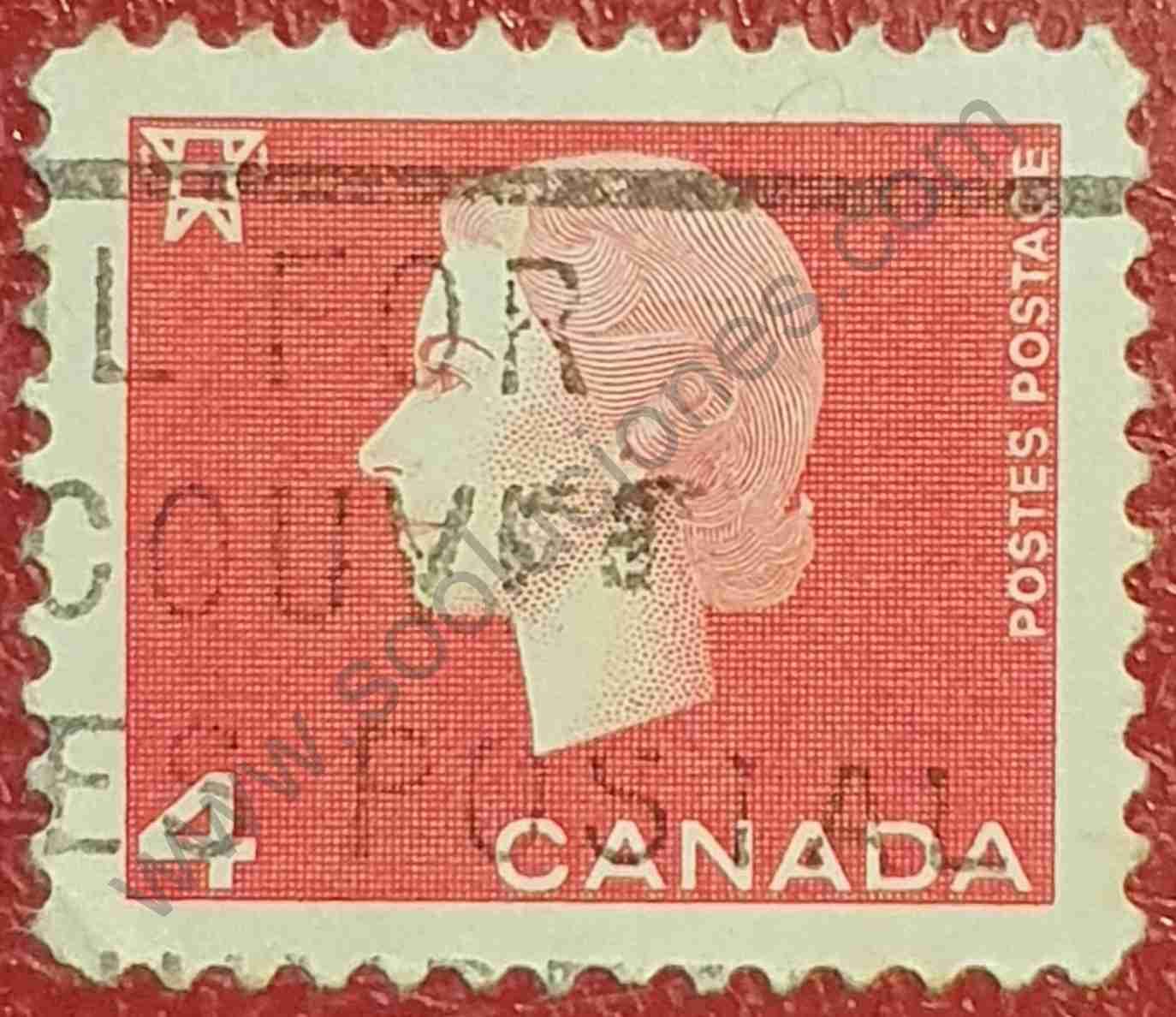 Elizabeth II - 4 Centavos - Sello de Canadá 1963