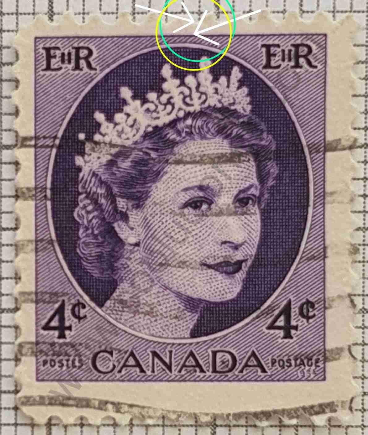 Canadá Sello Elizabeth II - año 1962 variante