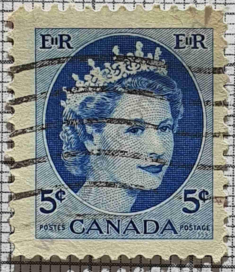 Elizabeth II sello de Canadá año 1962 - 5 centavos