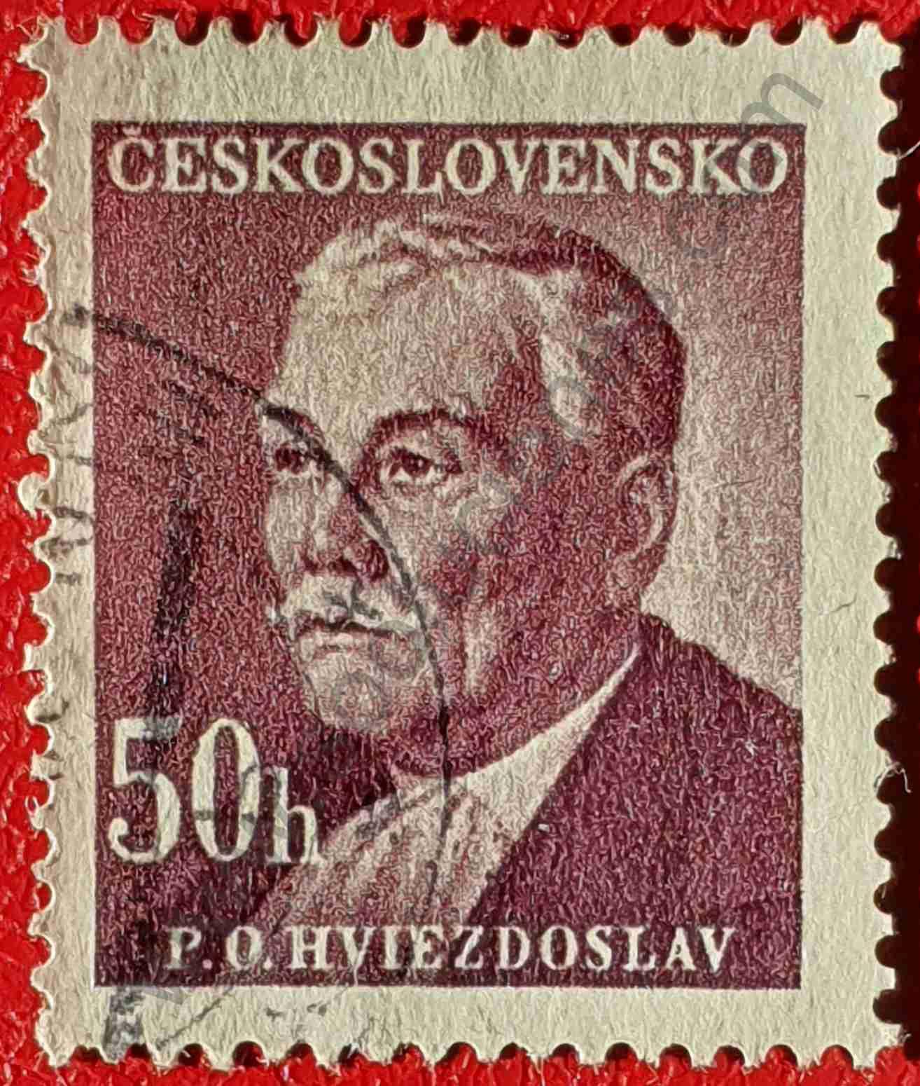 Pavol Országh Hviezdoslav - Sello Checoslovaquia 1949