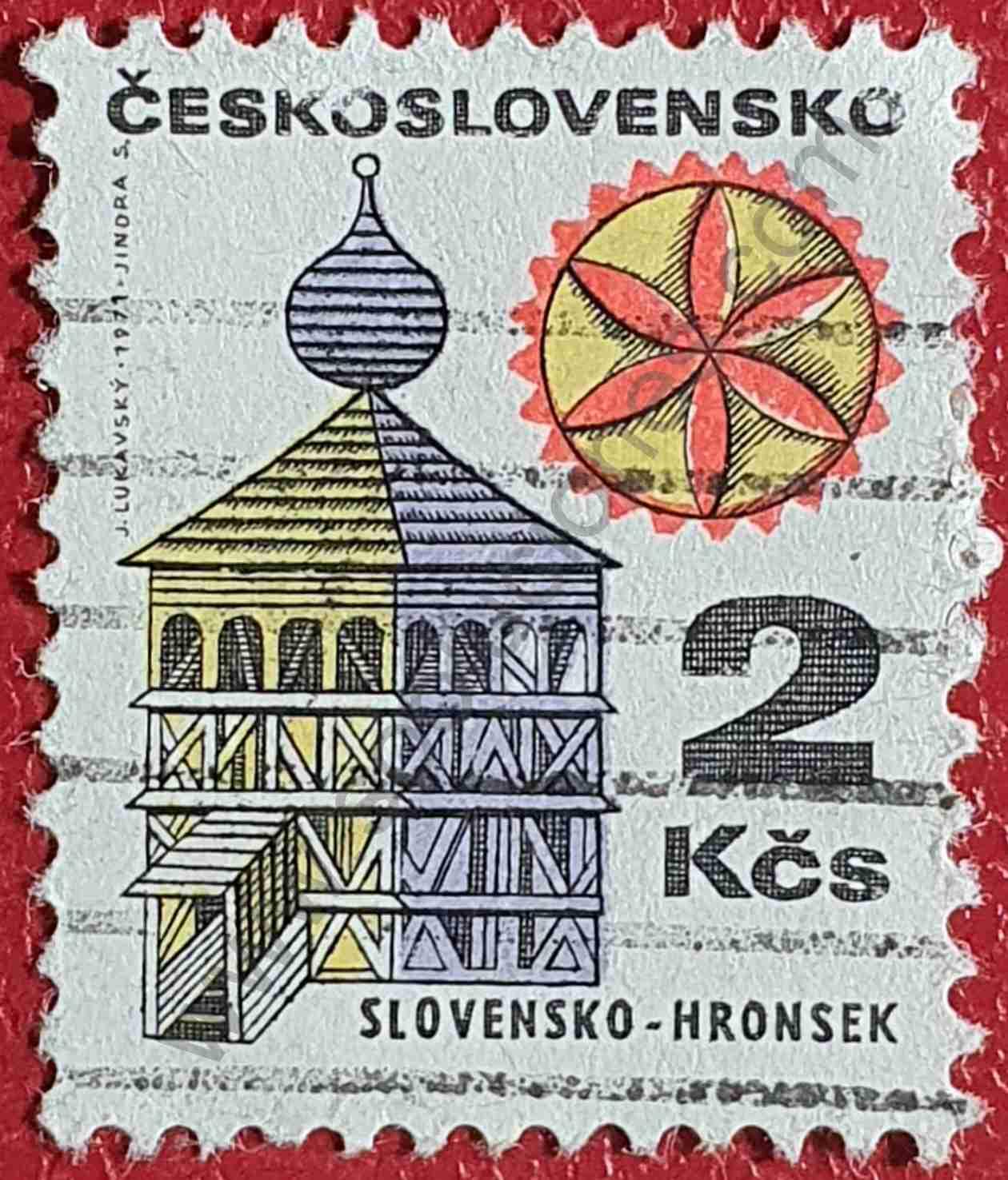 Campanario de Hronsek - sello de Checoslovaquia 1979