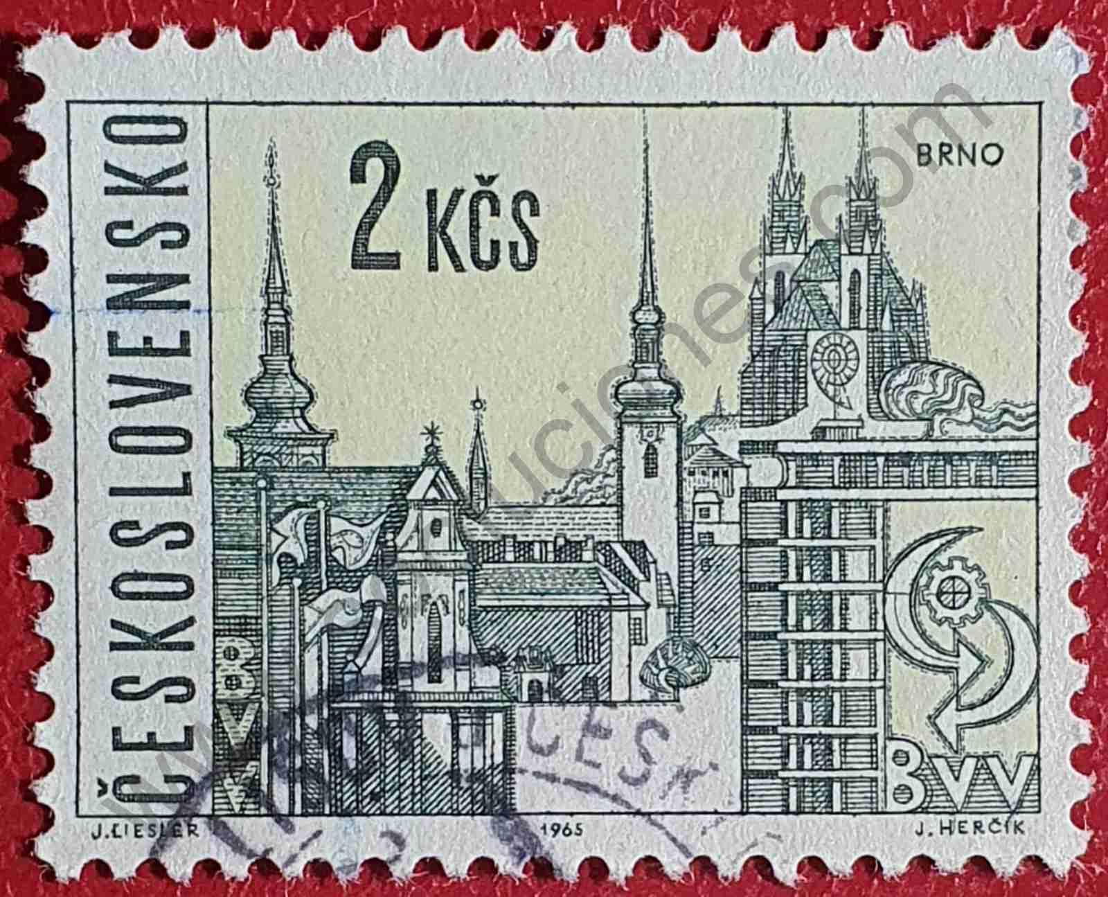 Ciudad de Brno - Sello de Checoslovaquia 1965