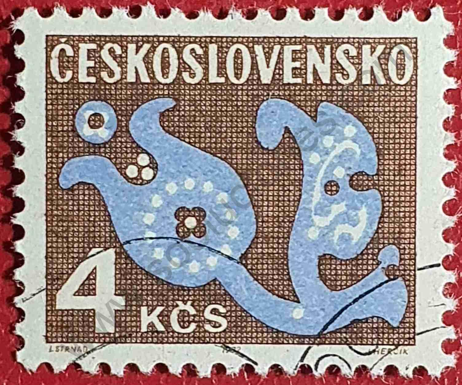 Flor Estilizada 4Kcs - Sello Checoslovaquia 1972