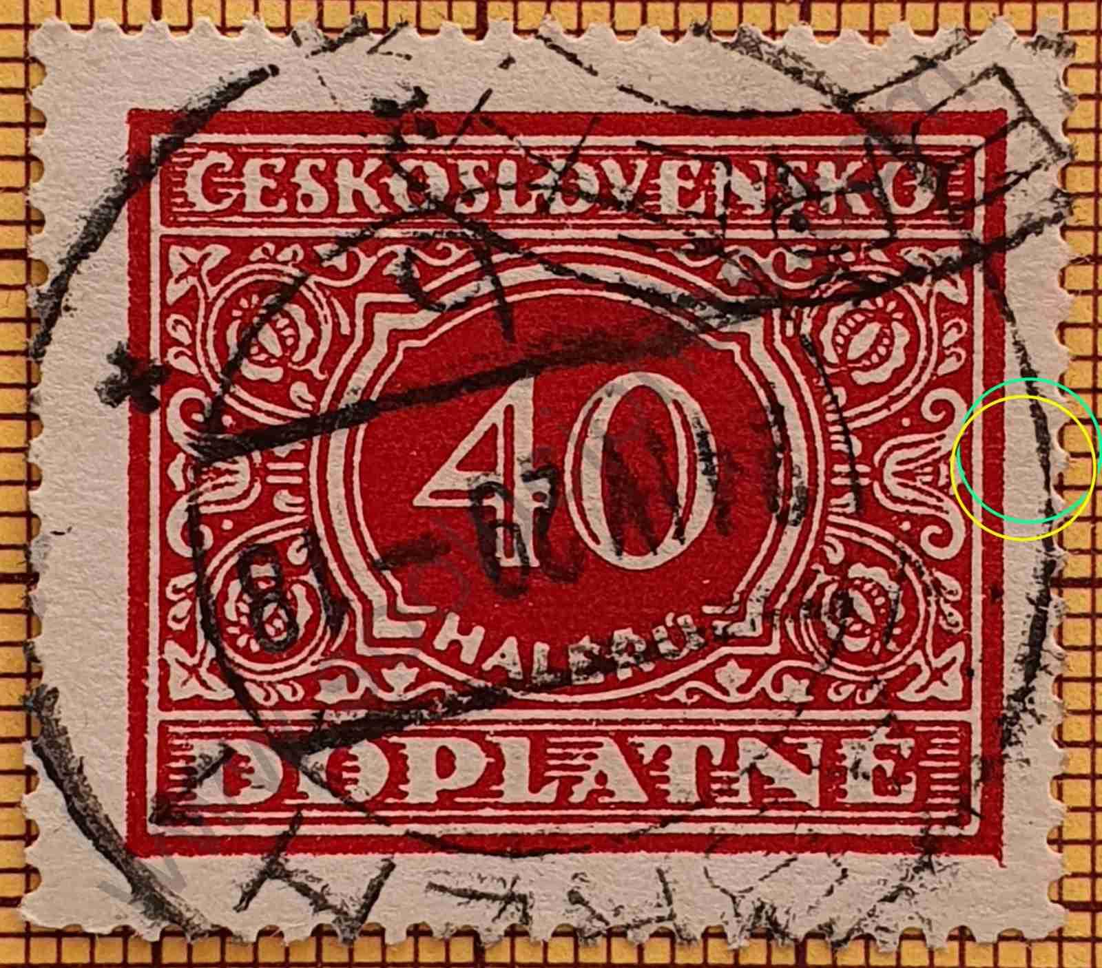 Sello 40 Checoslovaquia 1928
