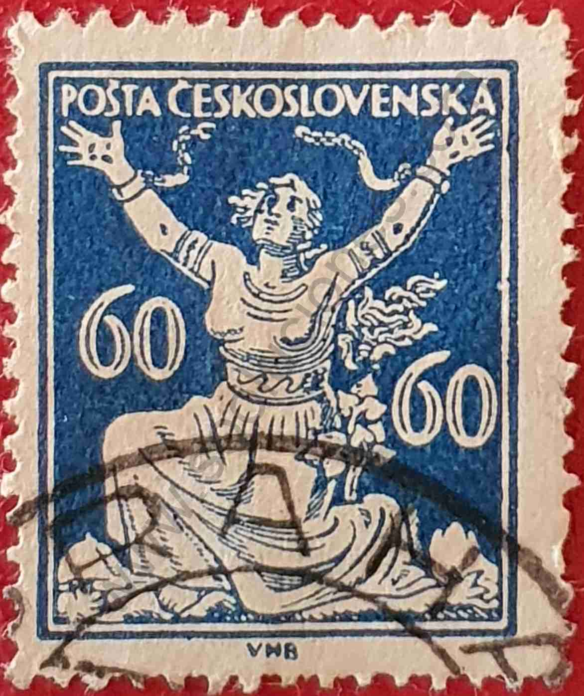 Rompiendo cadenas 60h - sello Checoslovaquia 1920