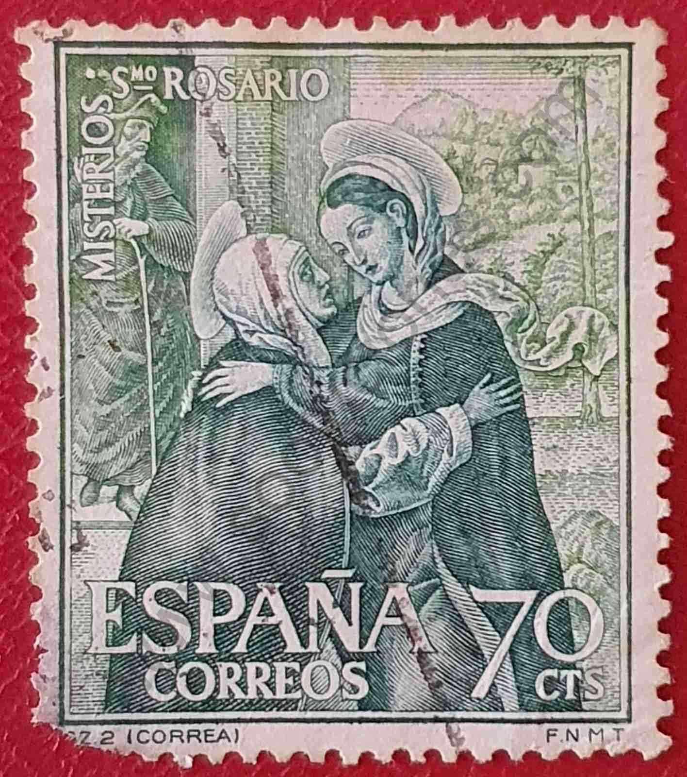La Visitación de Correa - Sello España 1967