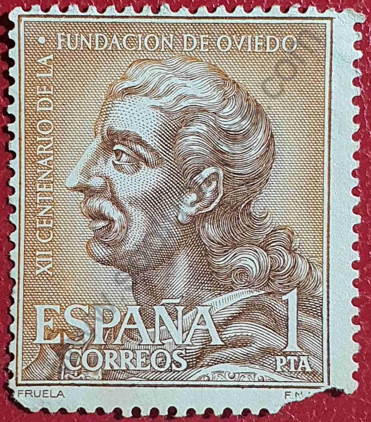 Fruela I - Sello de España año 1961