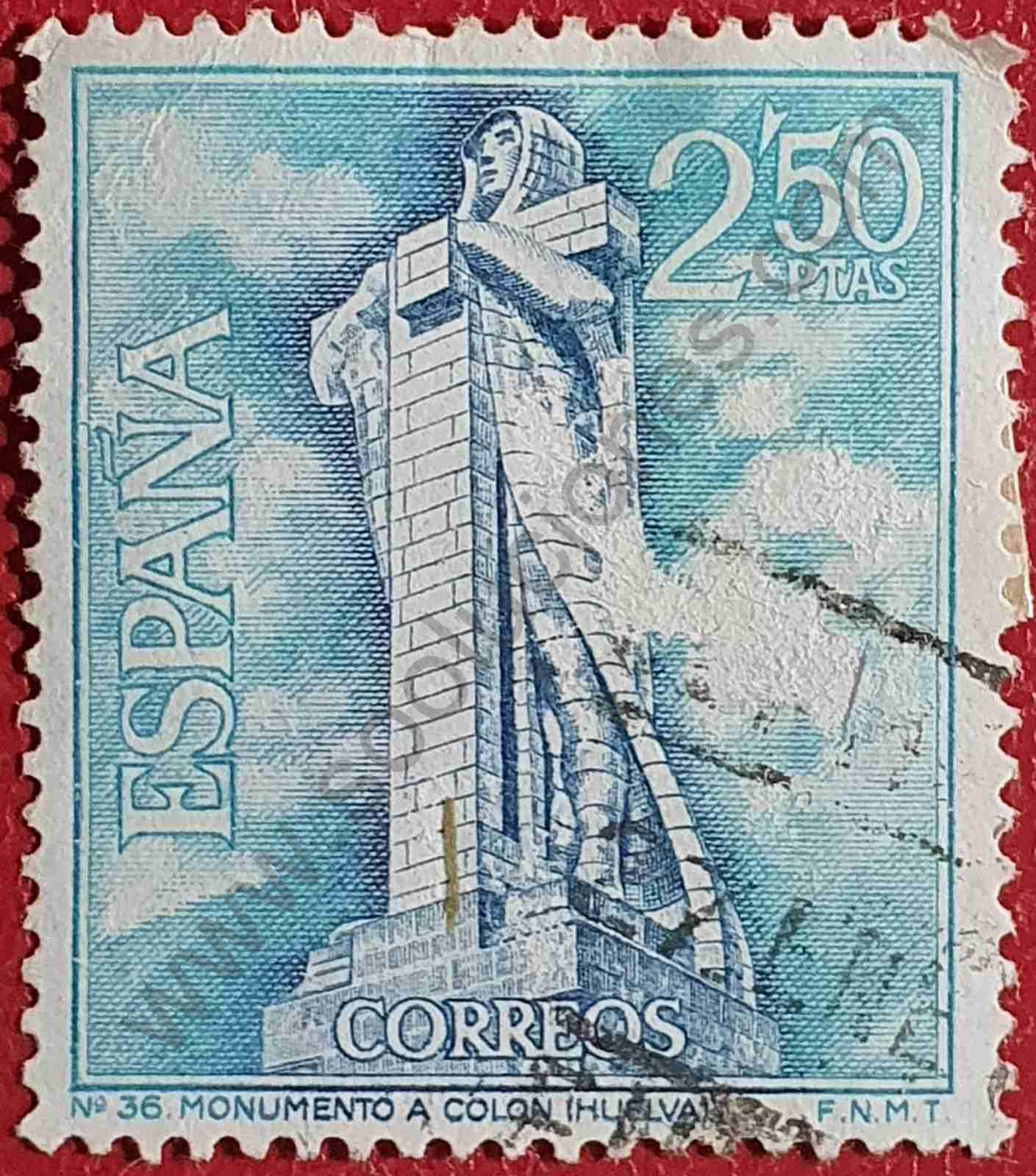 Monumento a Colón - Sello España 1967