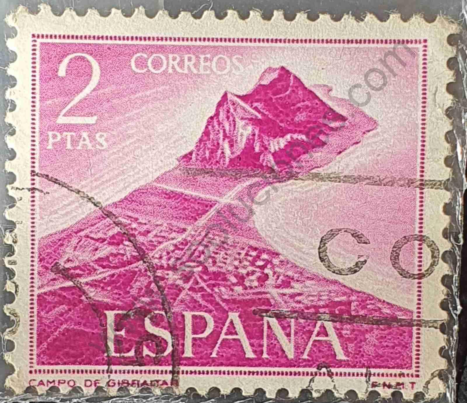 Campo de Gibraltar - Sello de España año 1969