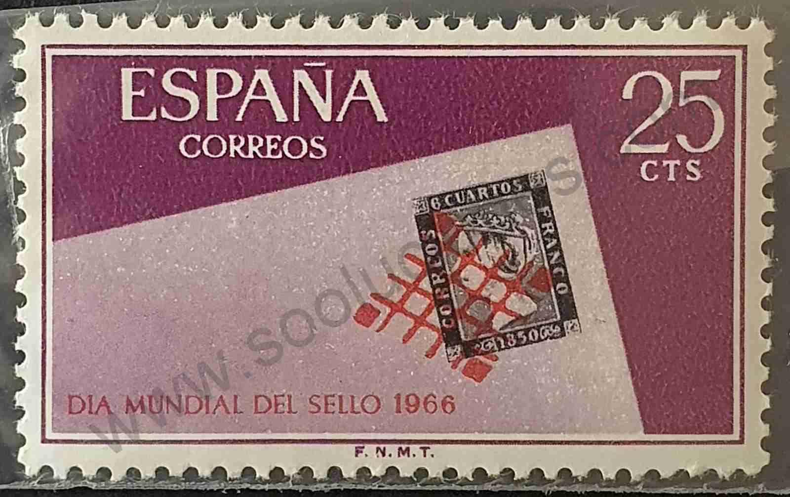 Día del sello 1966 - España 25 cts