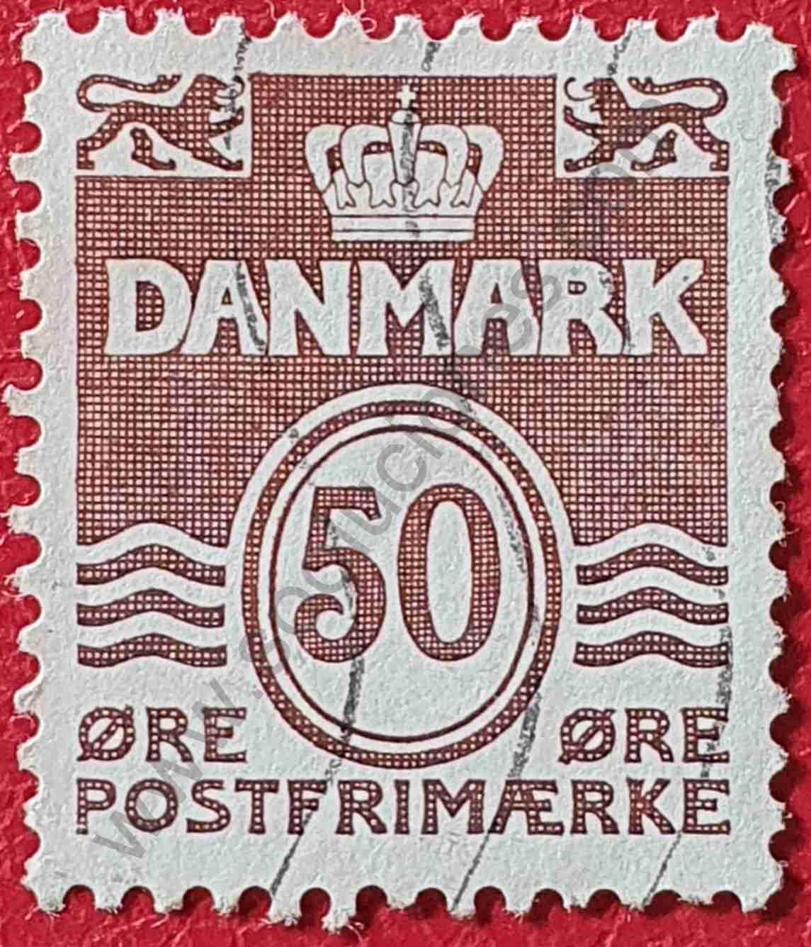 Número 50 - Sello Dinamarca 1974