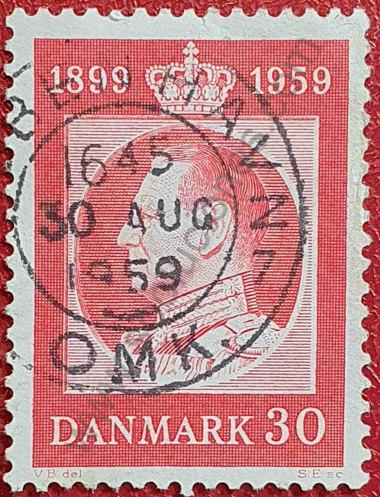 Federico IX - 30 coronas - Sello Dinamarca 1959