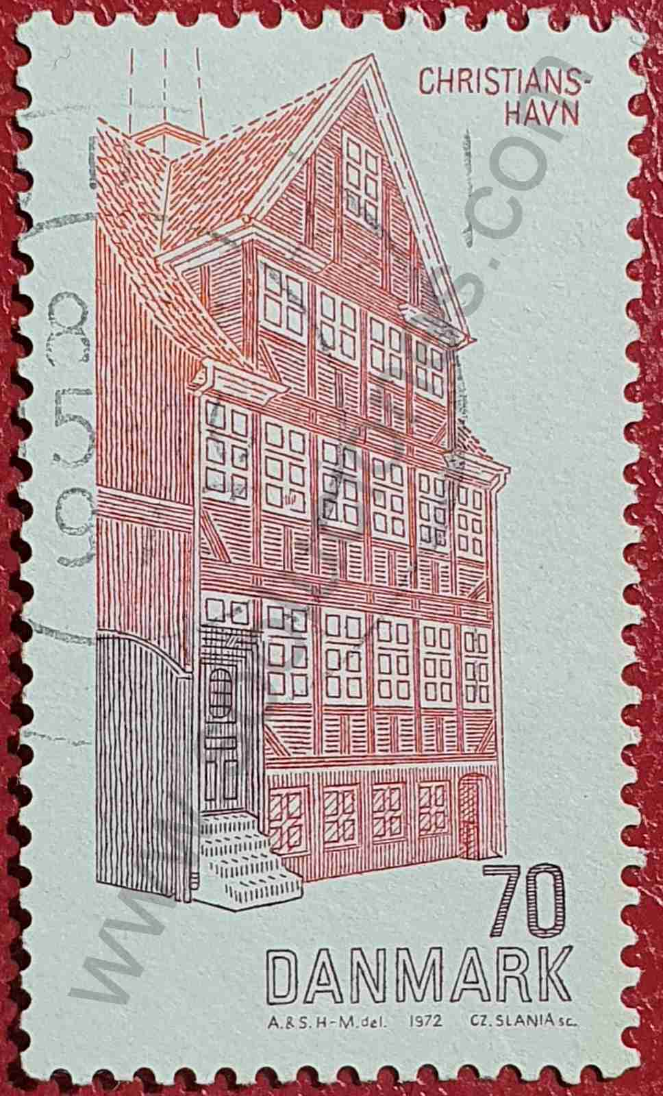 Casa de Christanshavn - Sello de Dinamarca 1972