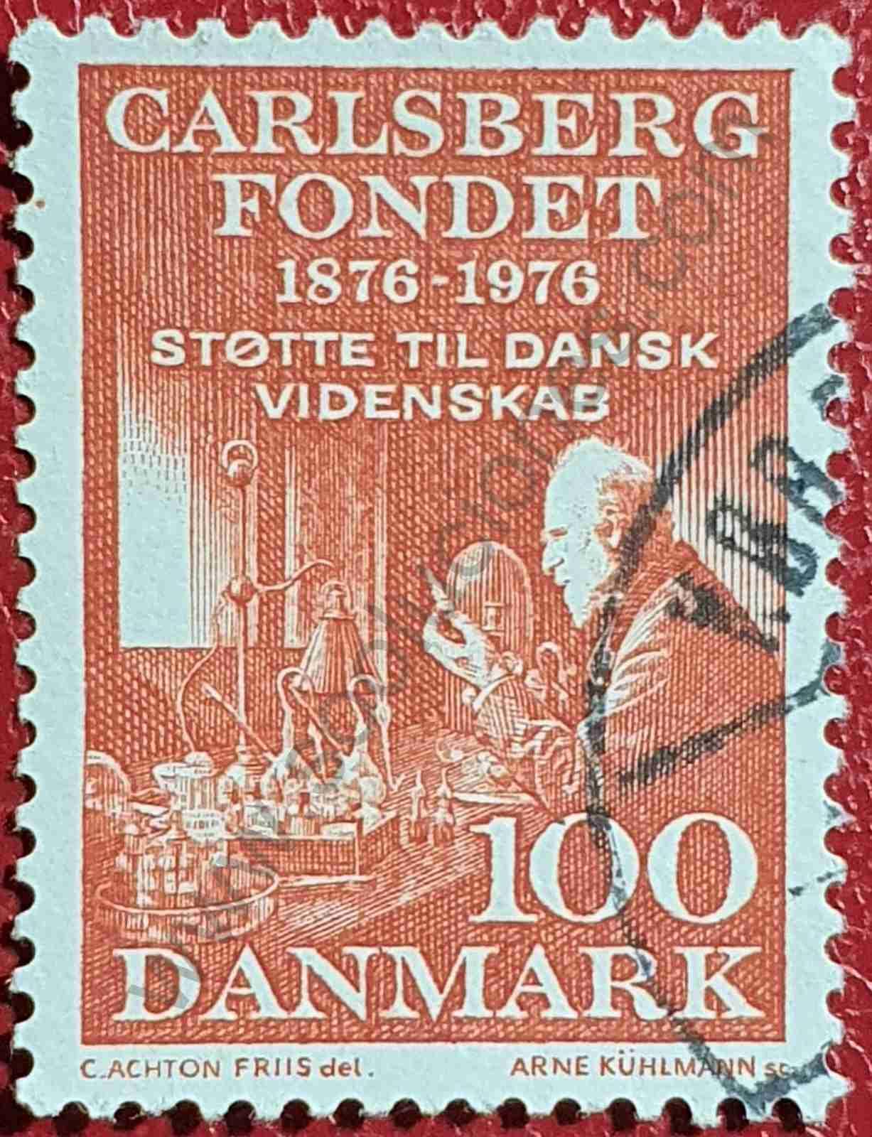 Emil Hansen - Sello de Dinamarca año 1976
