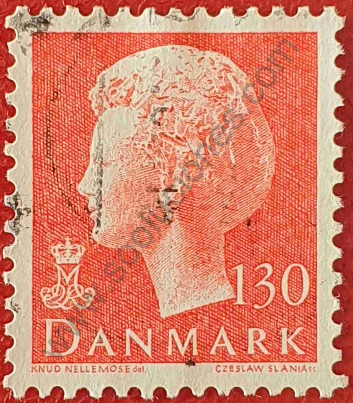 Reina Margarita II - Sello Dinamarca 1979