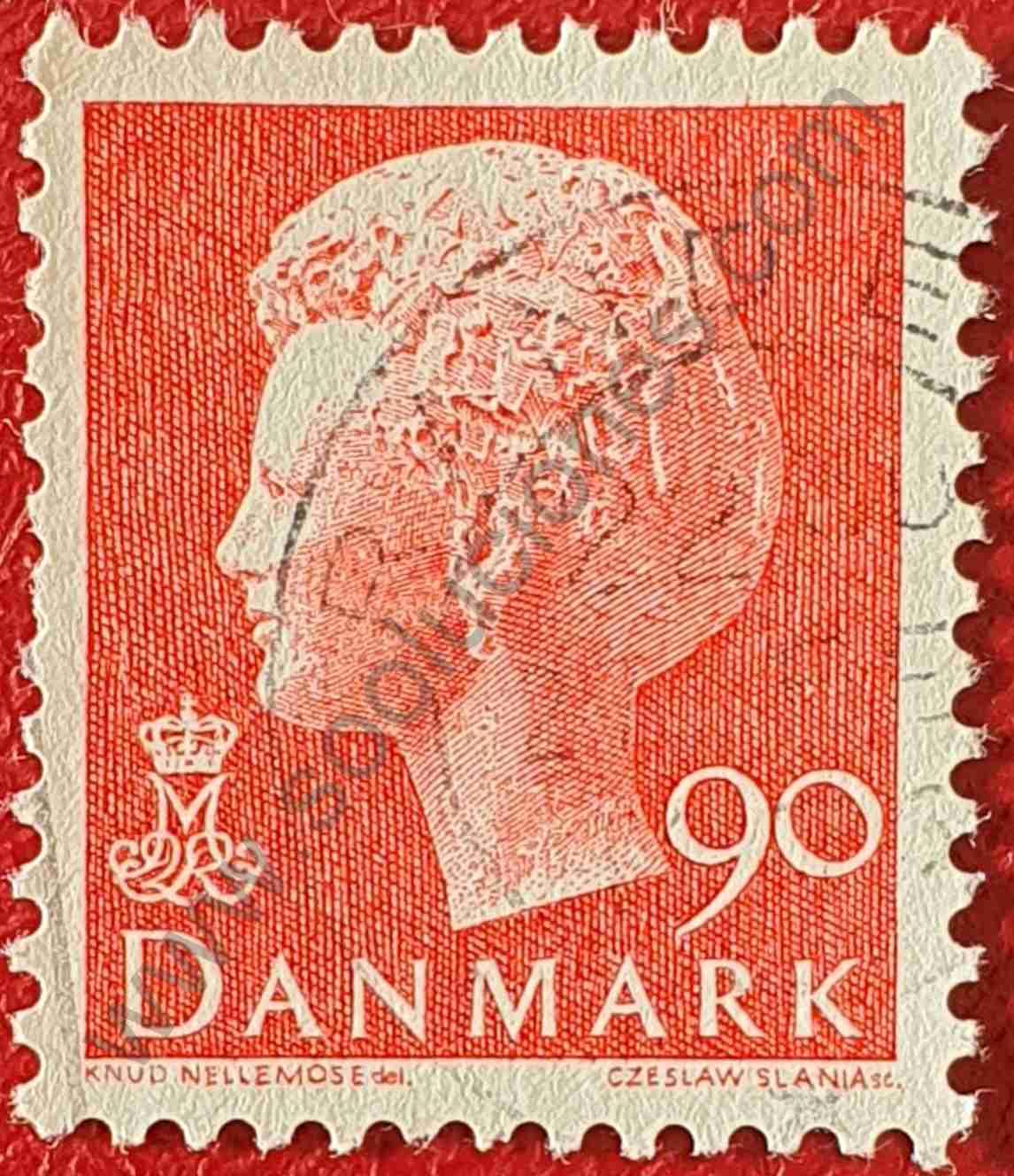 Sello Reina Margarita II - Dinamarca 1974