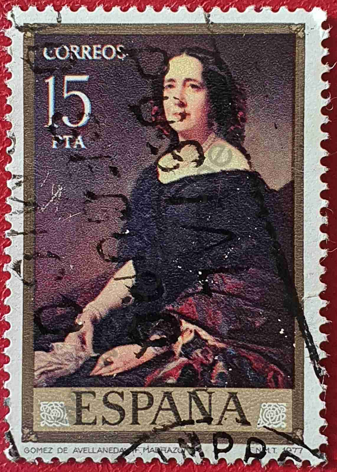 Gertrudis Gómez de Avellaneda - Sello España 1977