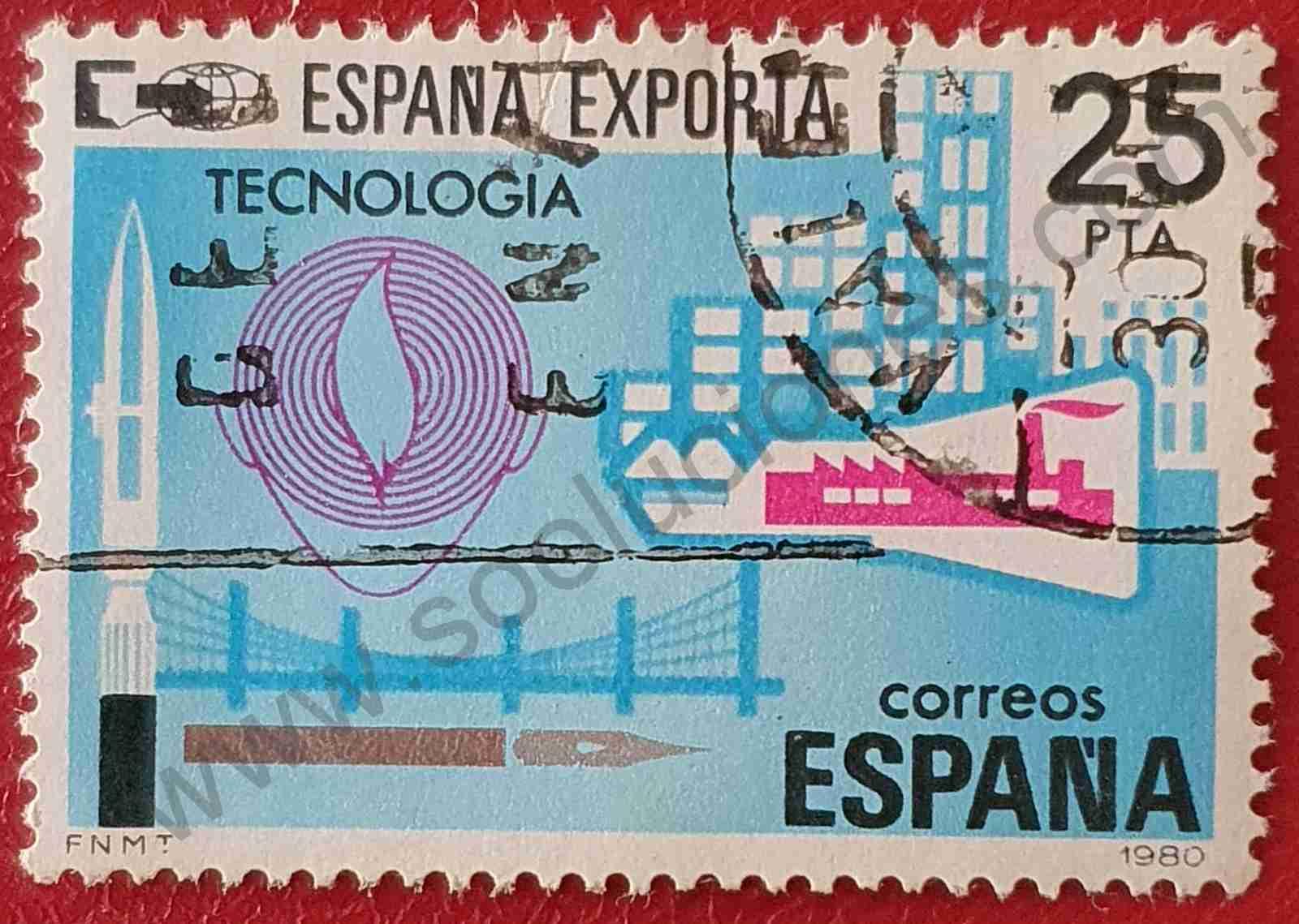Tecnología - Exportaciones - Sello España 1980