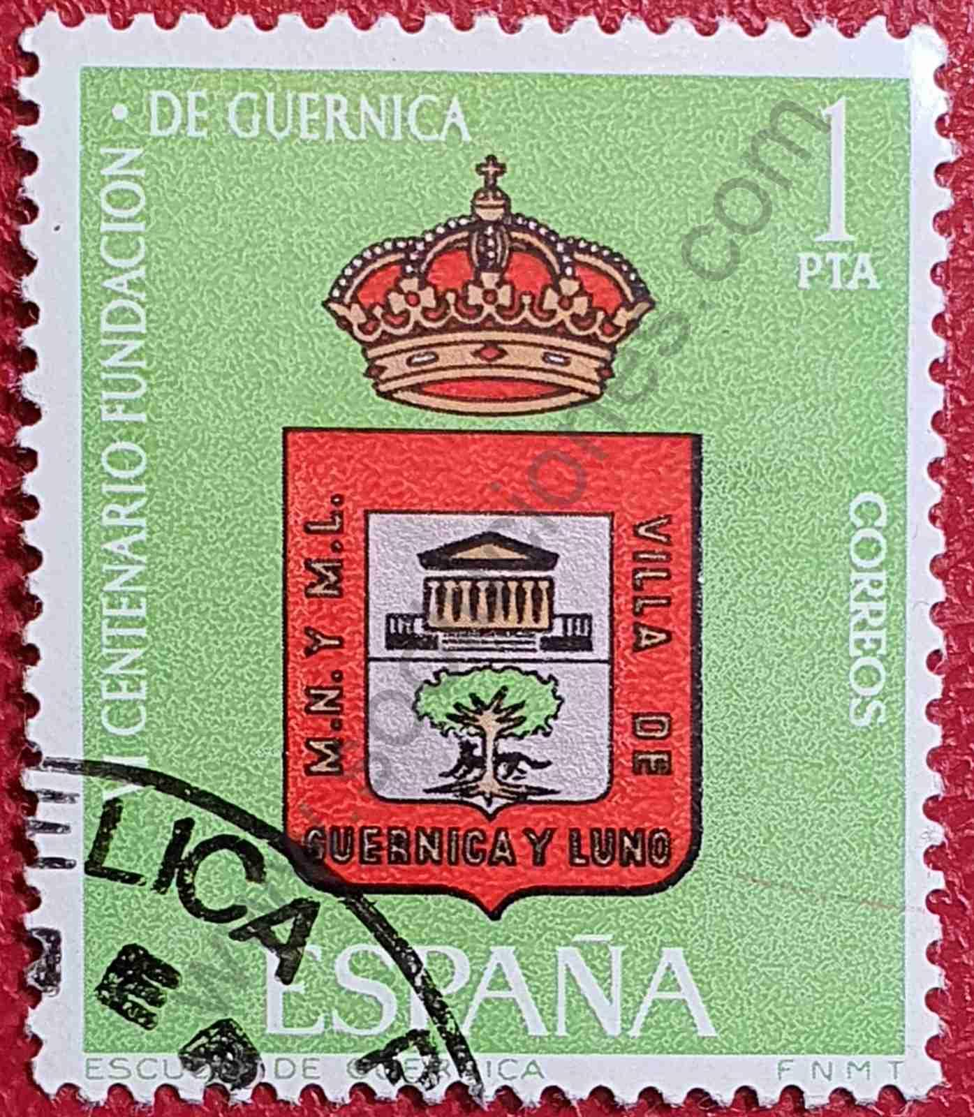 Escudo de Guernica - Sello España 1966