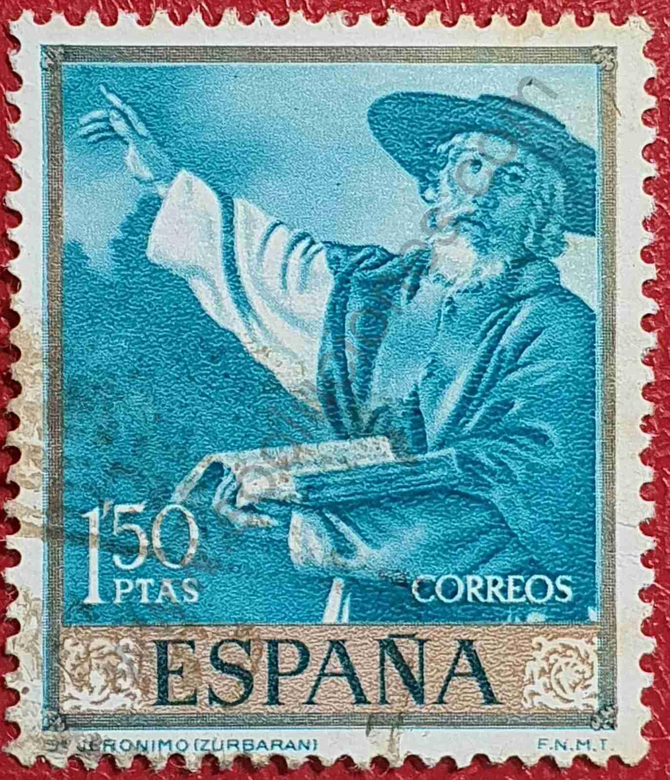 San Jerónimo - Sello de España año 1962