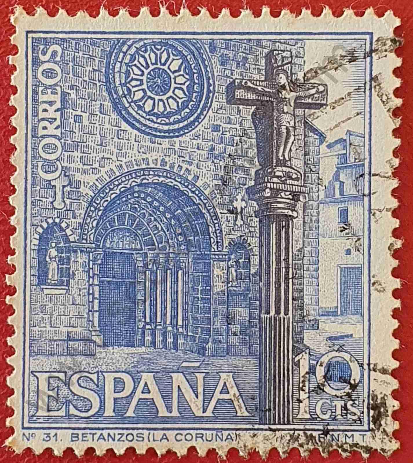 Iglesia de Betanzos - Sello España 1967
