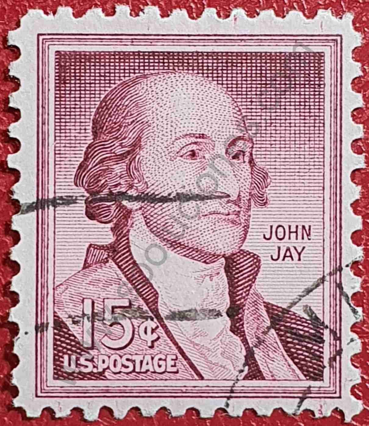 John Jay - Sello Estados Unidos 1958