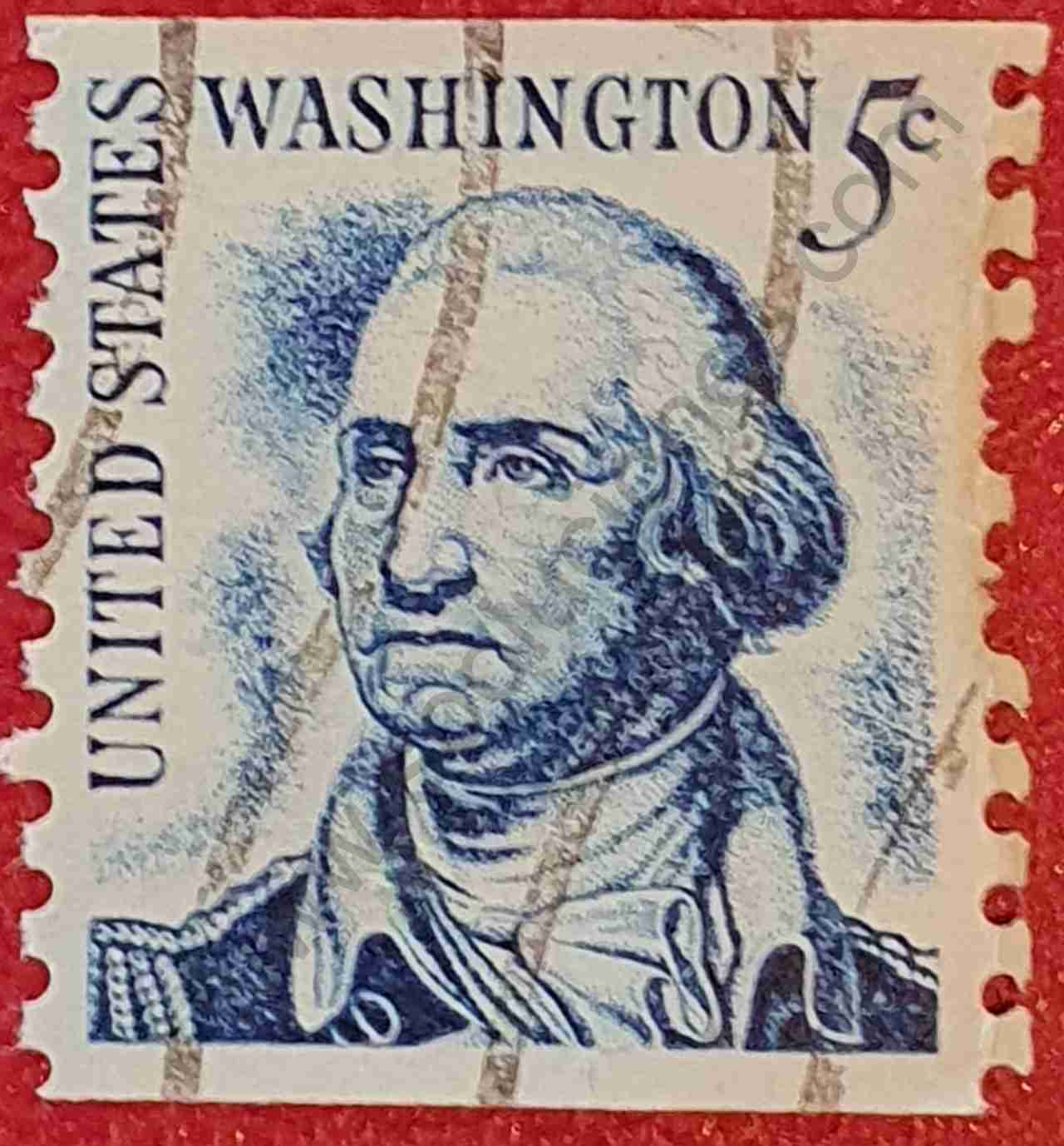 George Washington 5c - Sello Estados Unidos 1966
