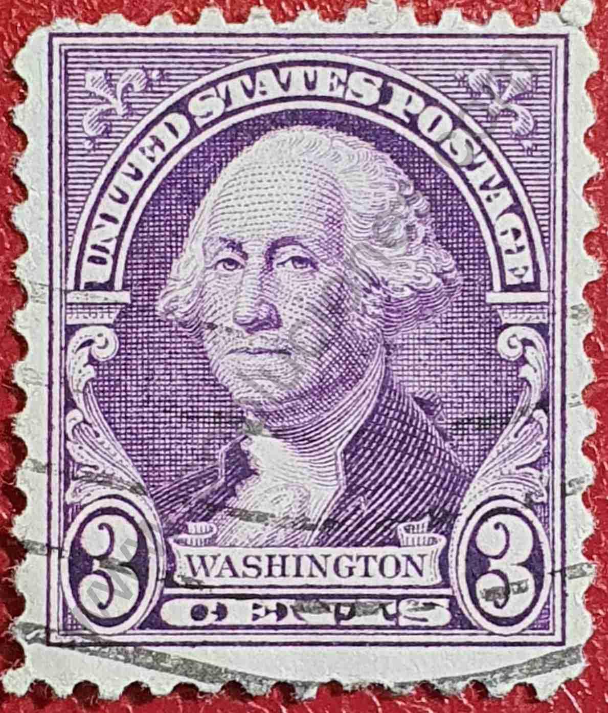 George Washington 3c - Sello Estados Unidos 1932