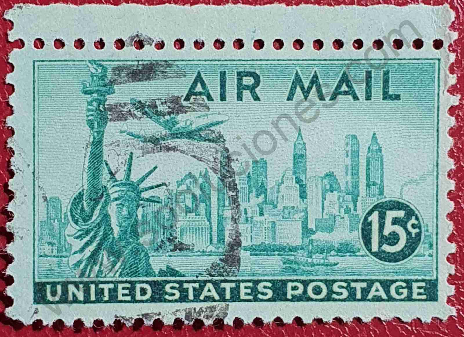 Estatua de la Libertad - Sello Estados Unidos 1947