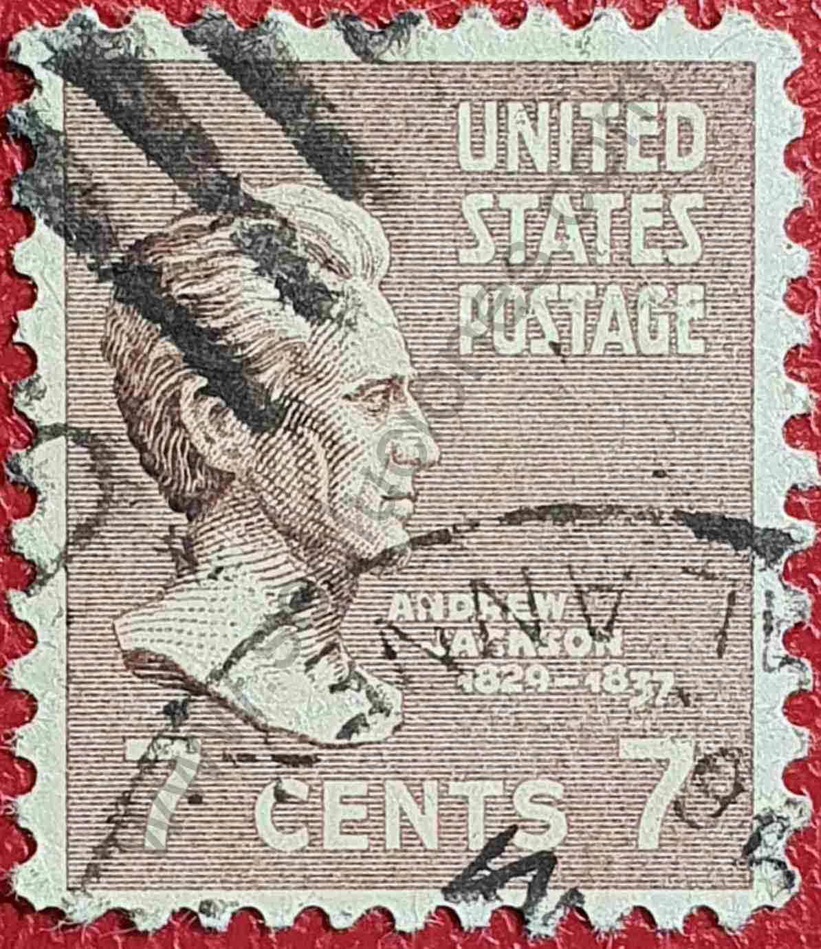 Andrew Jackson - Sello Estados Unidos 1938