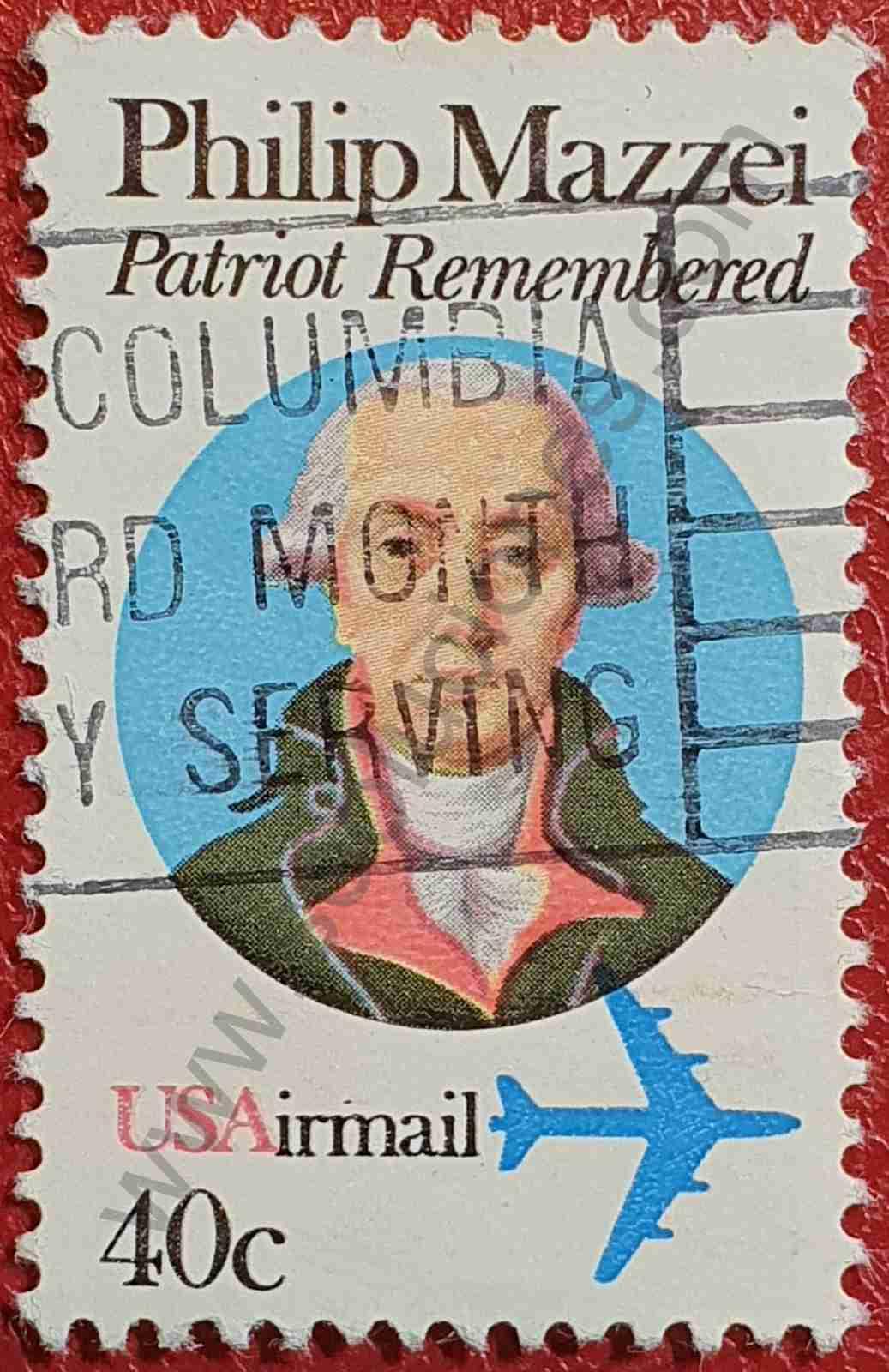 Philip Mazzei - Sello Estados Unidos 1980