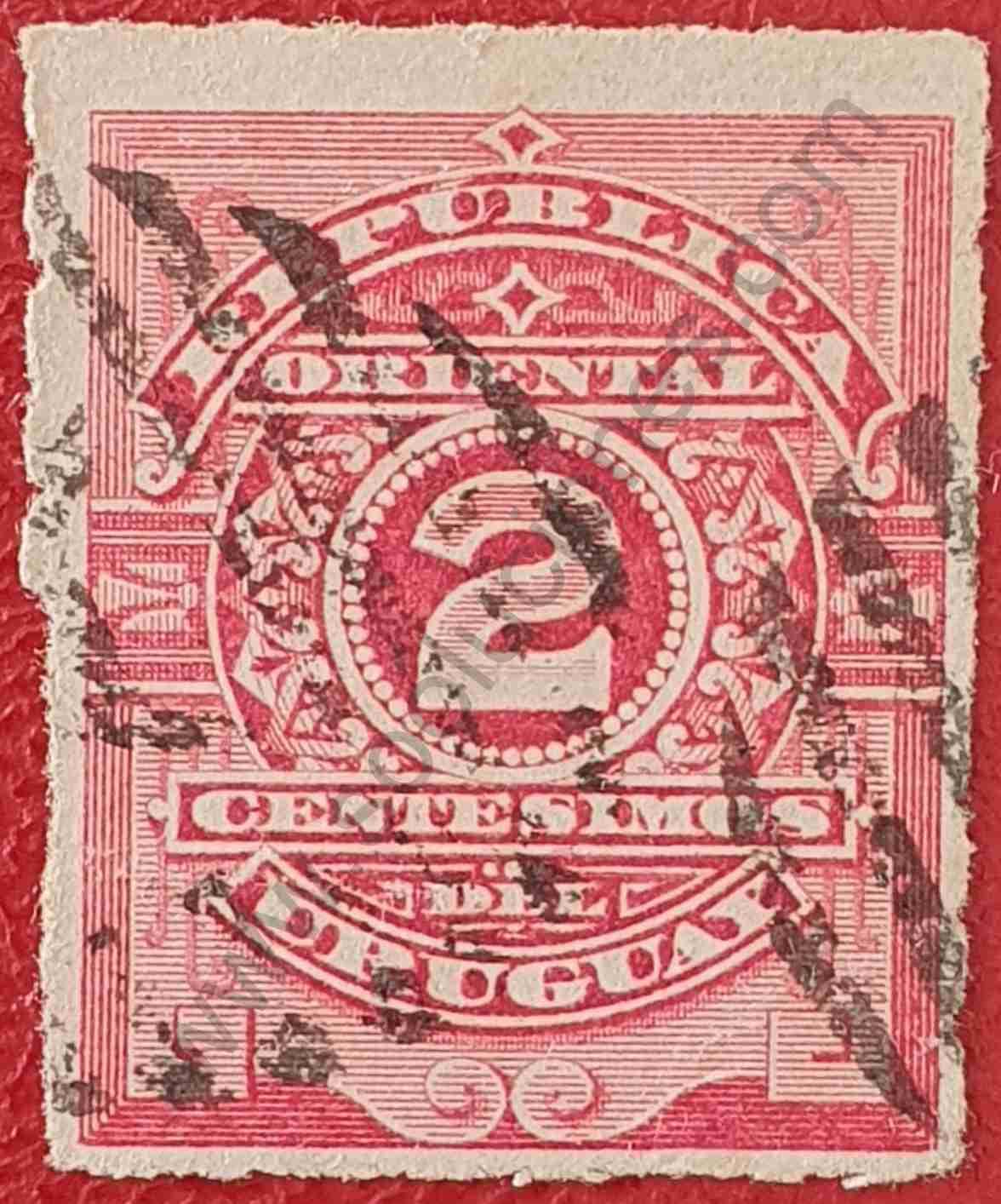 Número 2 - Sello de Uruguay año 1884