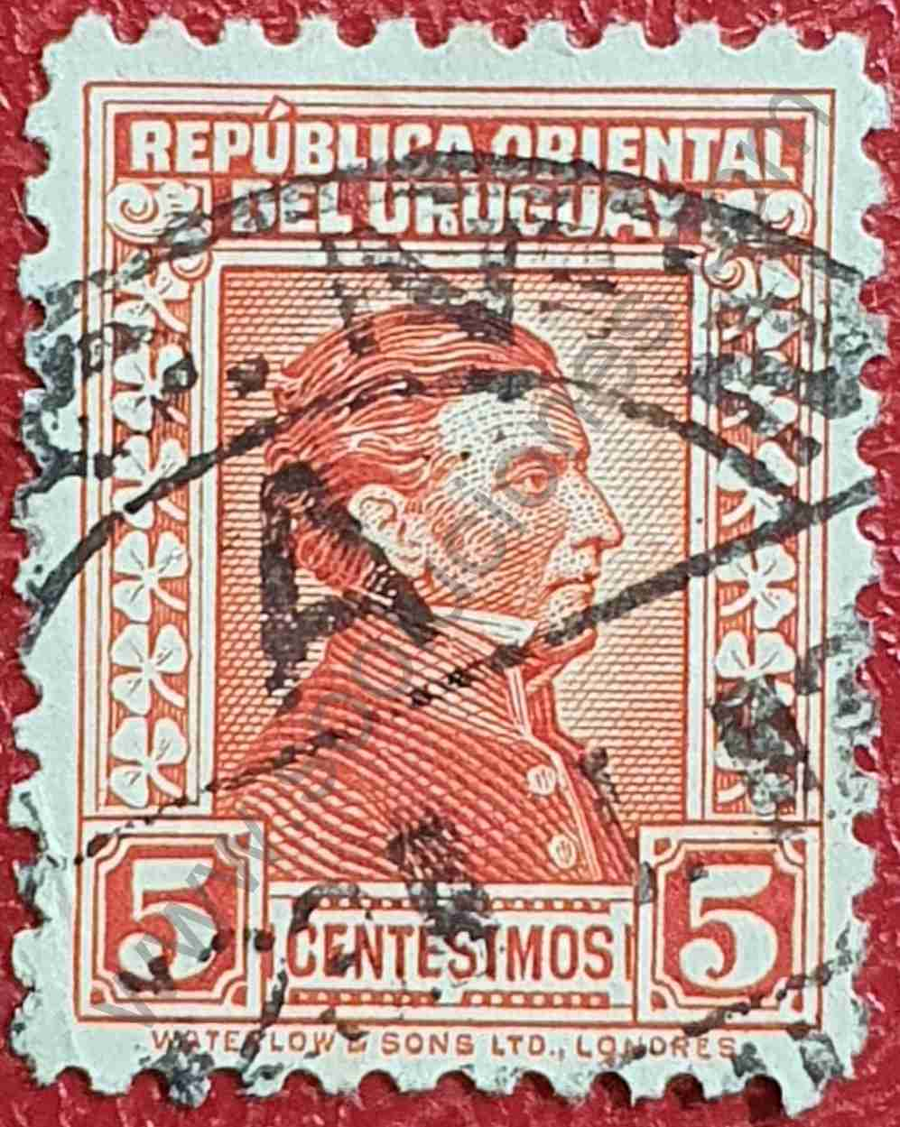 General Artigas 5c - Sello Uruguay 1928