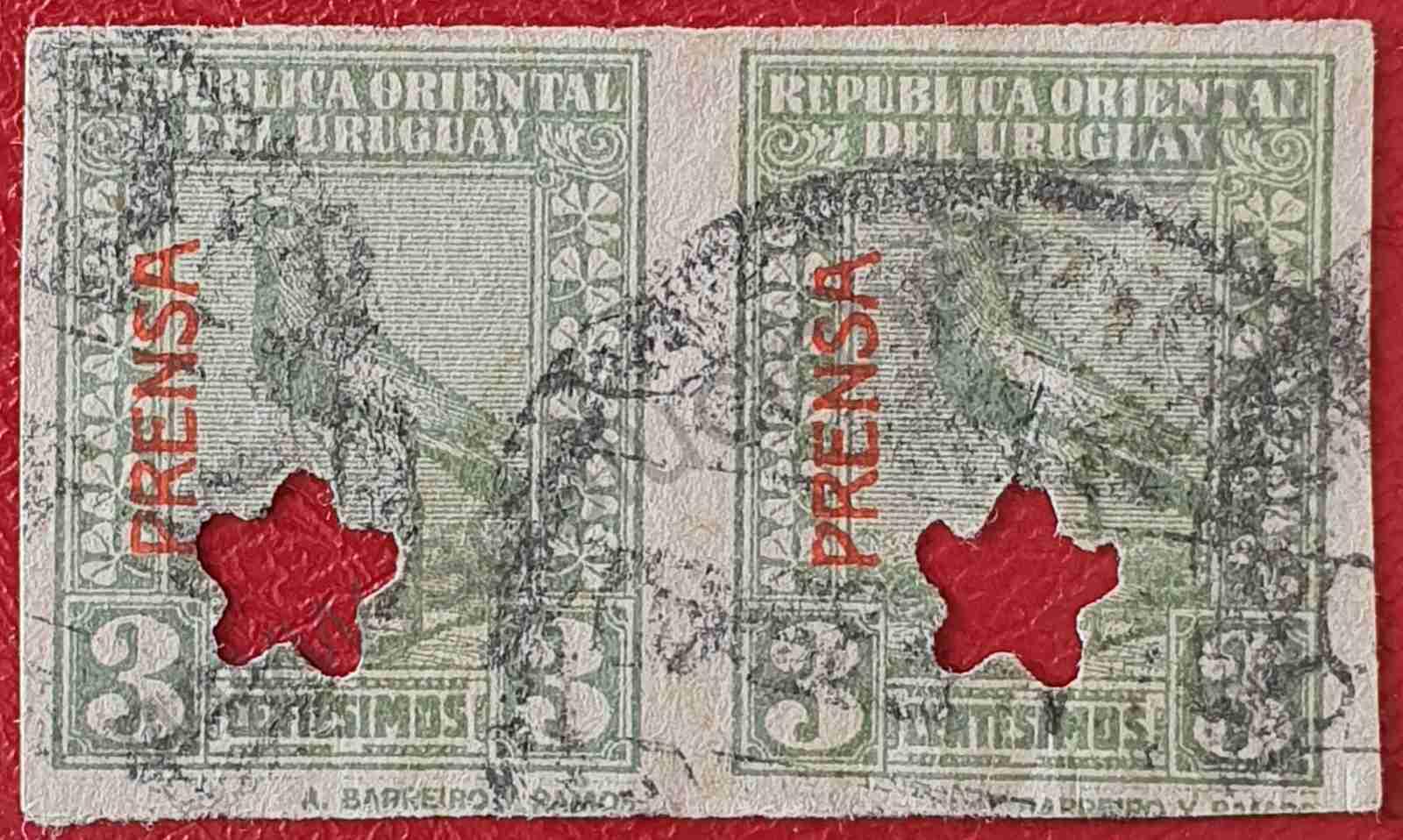 Tero 3c - sobreimpreso - Sello Uruguay 1927