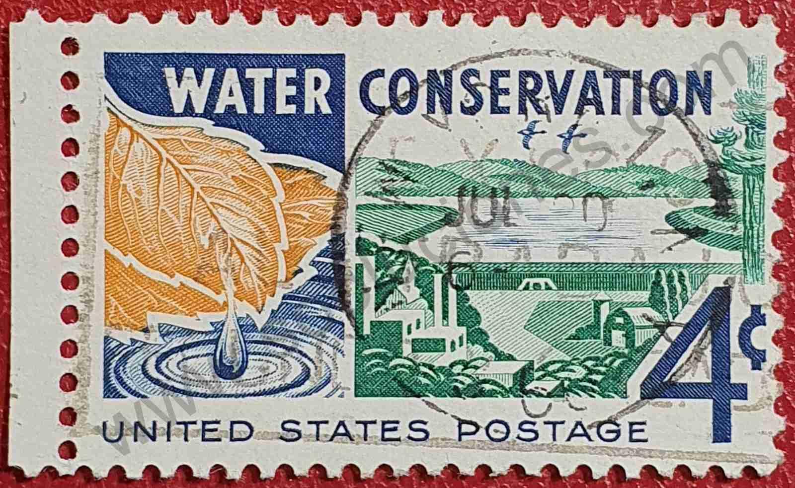 Conservación del agua - Sello Estados Unidos 1960