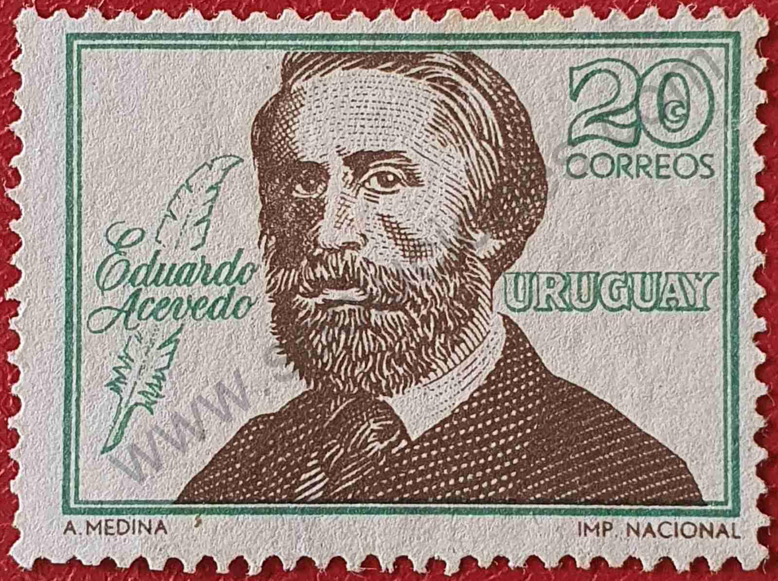 Eduardo Acevedo 20c - Sello Uruguay 1967