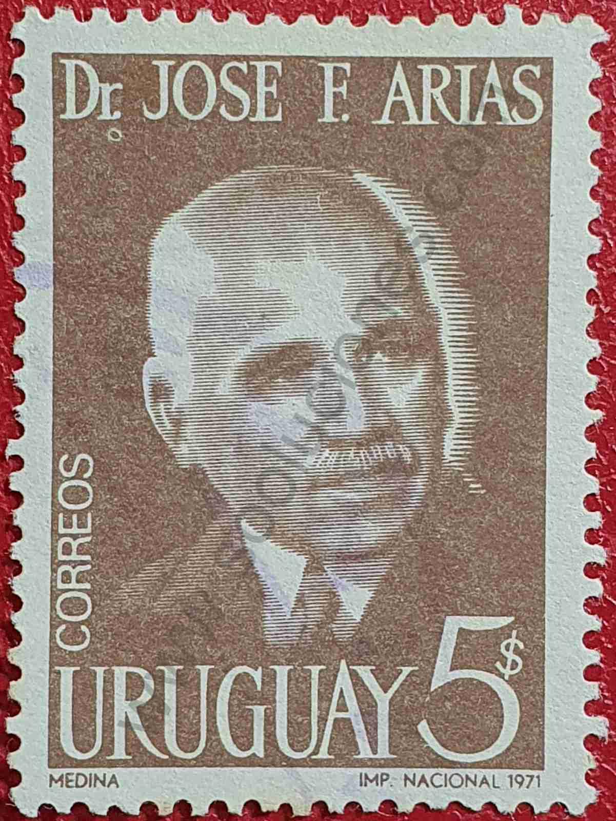 José F Arias - Sello Uruguay 1971