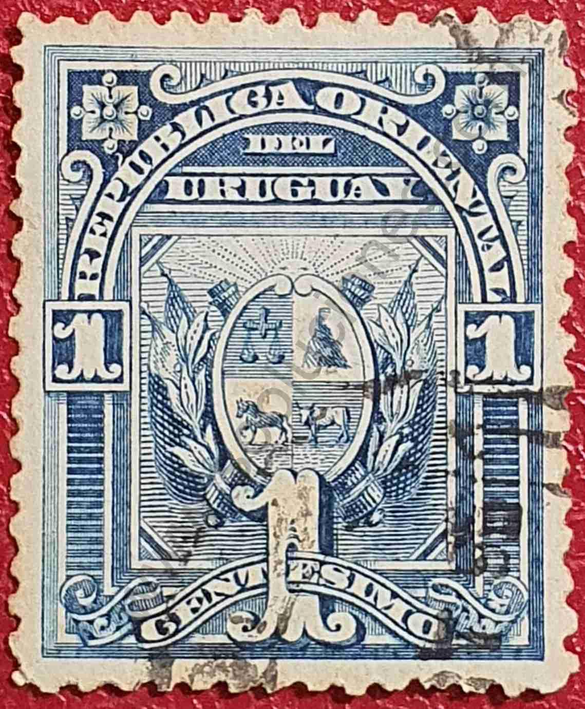 Escudo de Uruguay 1c - sello 1894