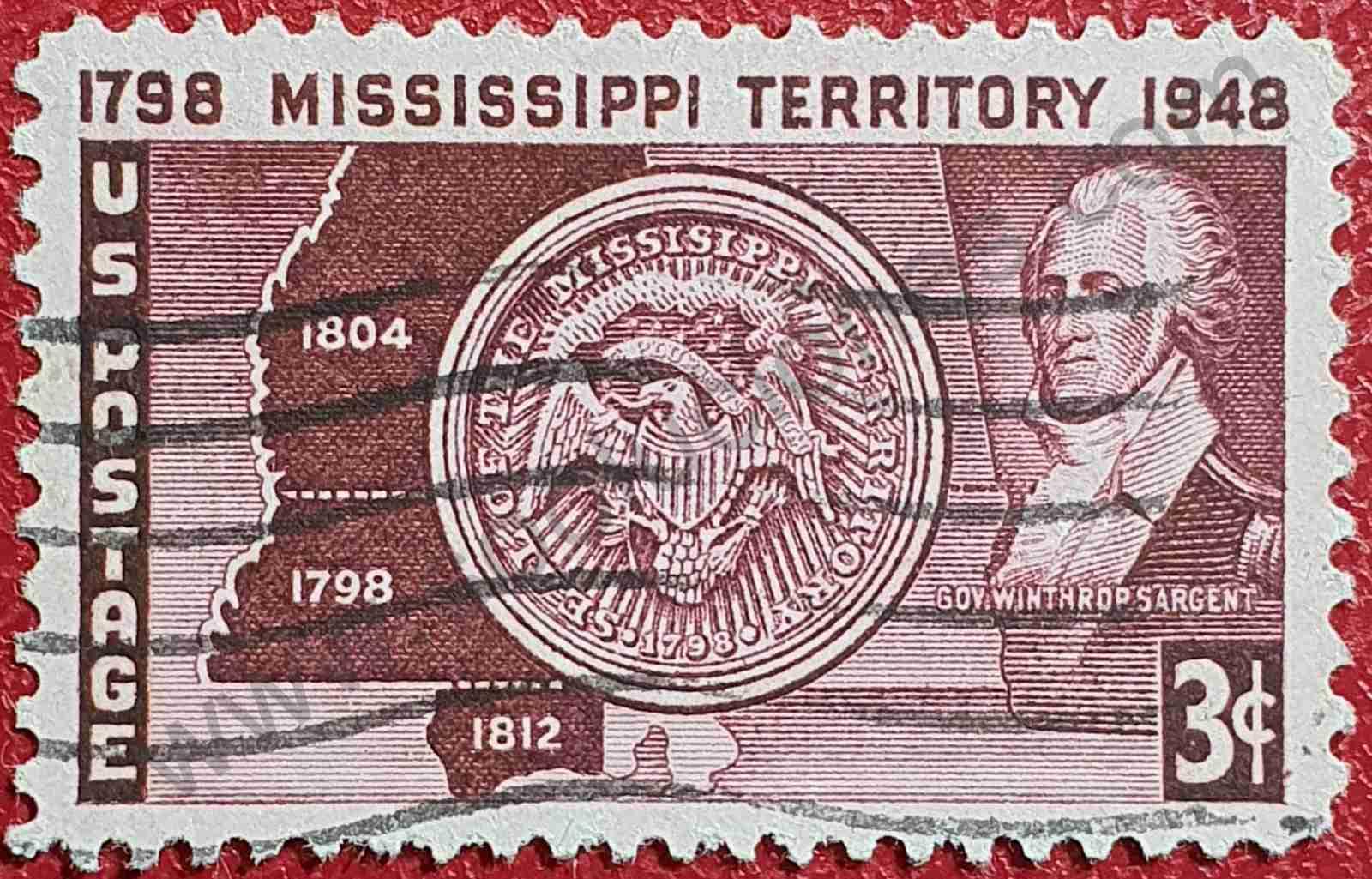 Estado de Misisipi - Sello Estados Unidos 1948