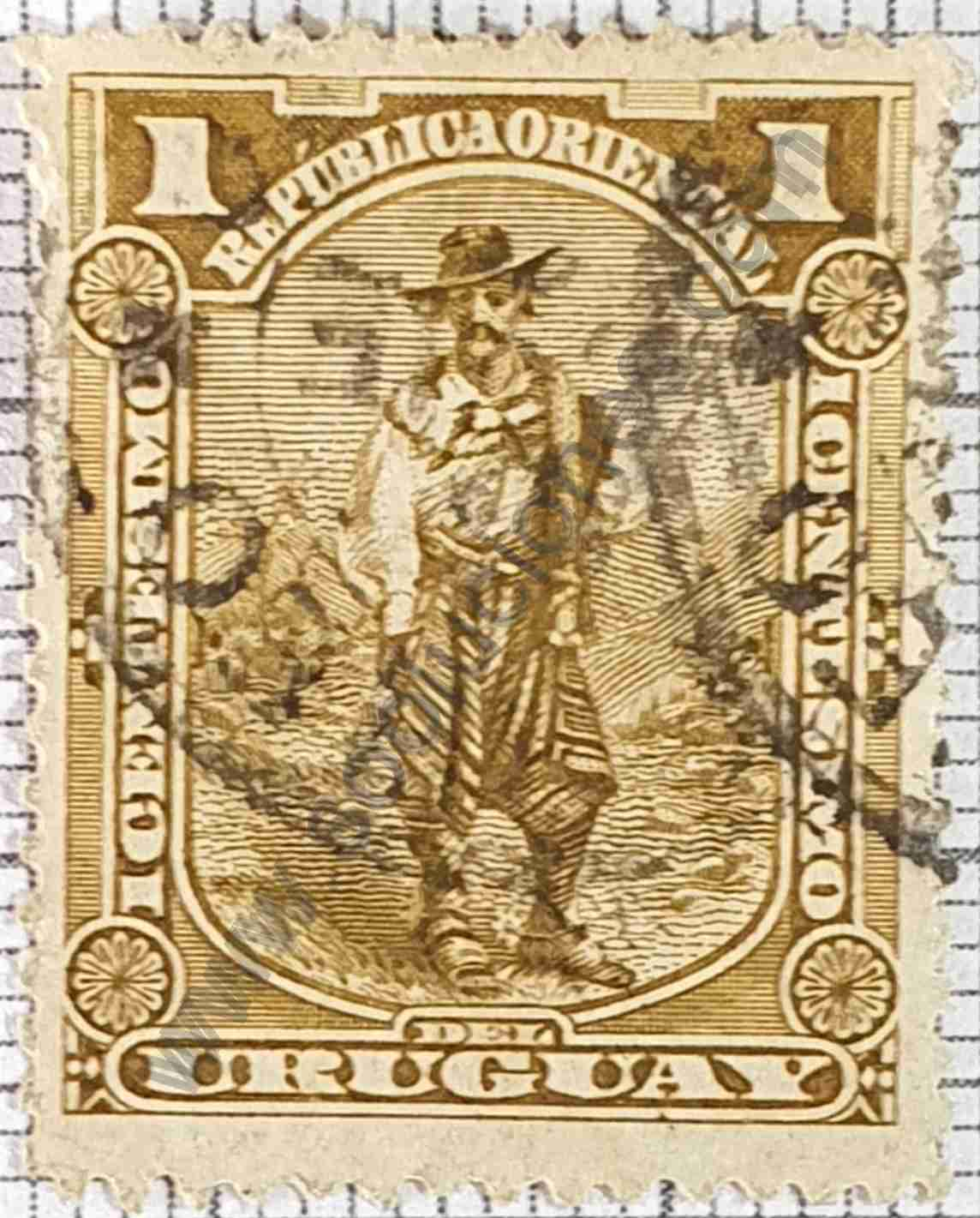 Sello El Gaucho - Uruguay 1895